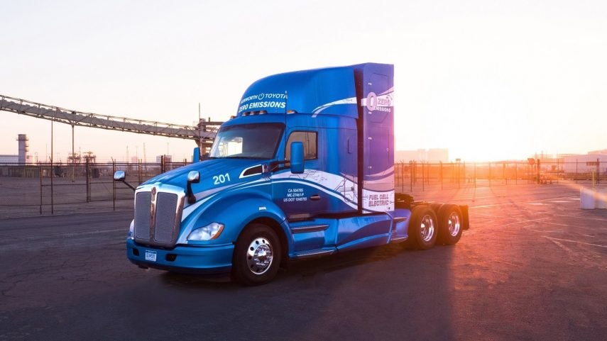 Toyota y Kenworth lanzan un camión de pila de hidrógeno
