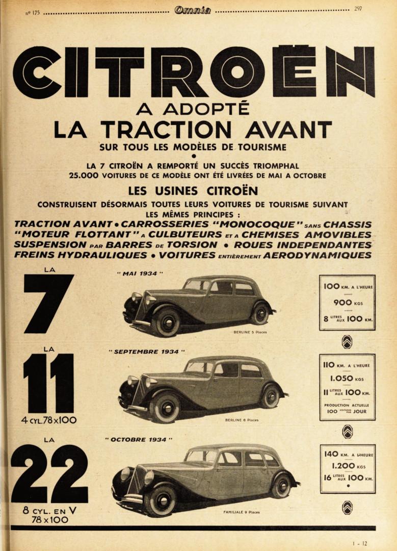 24 Traction Avant Publicidad
