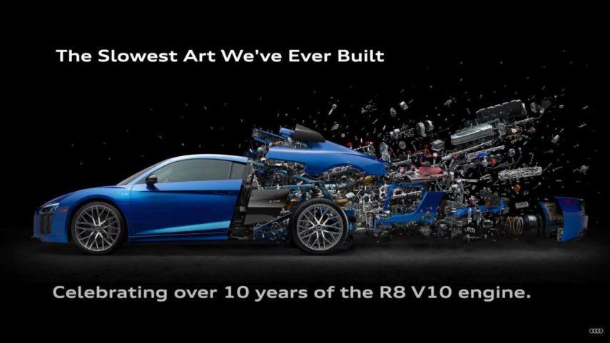 """""""Disintegrating"""", o cuando desguazar un Audi R8 se convierte en arte"""