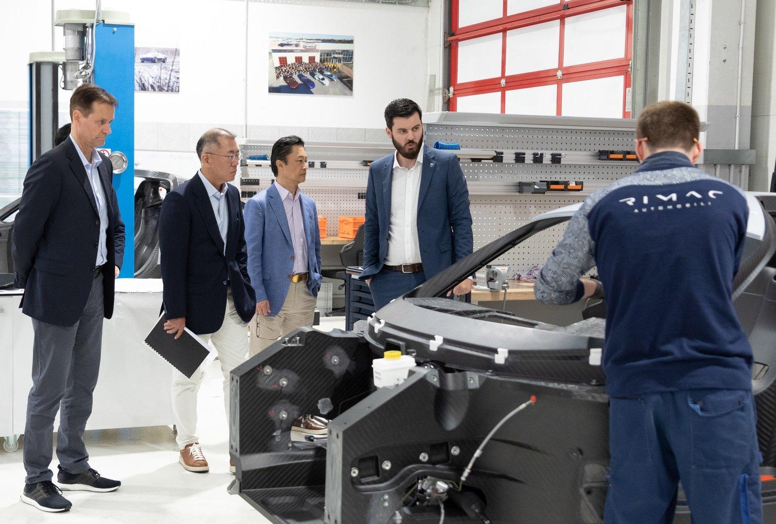 El Grupo Hyundai y Rimac se asocian para desarrollar nuevos vehículos eléctricos