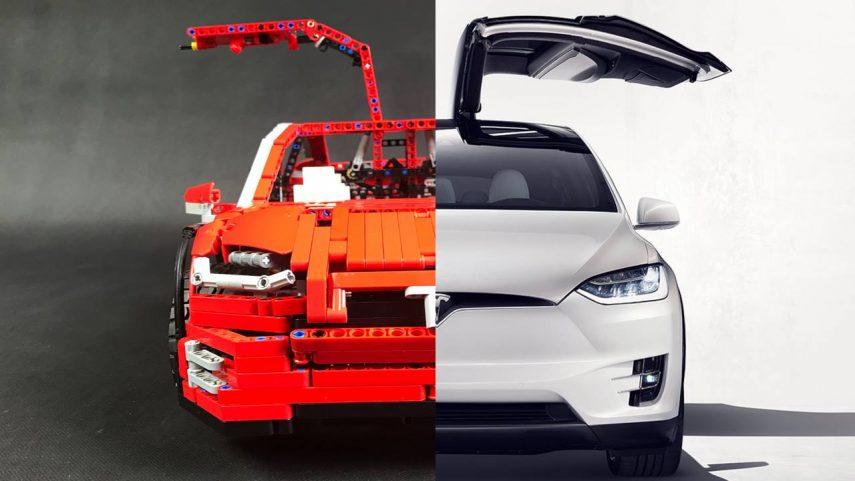 Este es el Tesla Model X de LEGO capaz de moverse con el móvil
