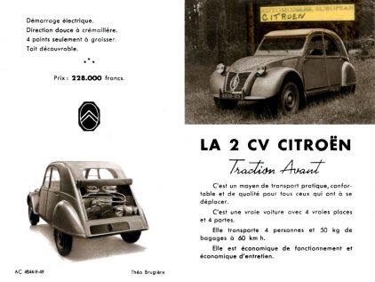 Publicidad 2CV 1949