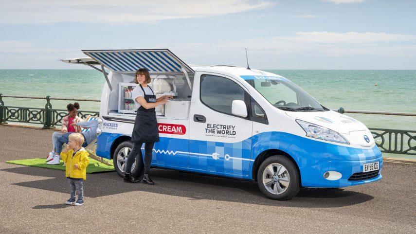 La Nissan e-NV200 se pasa al reparto de helados