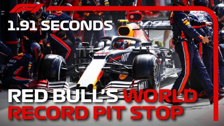 Red Bull bate el récord mundial en cambiar neumáticos: 1,91 segundos
