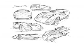 De Tomaso P70 Sketch