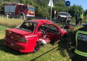 Mitsubishi Lancer EVO accidente Corrales de Buelna