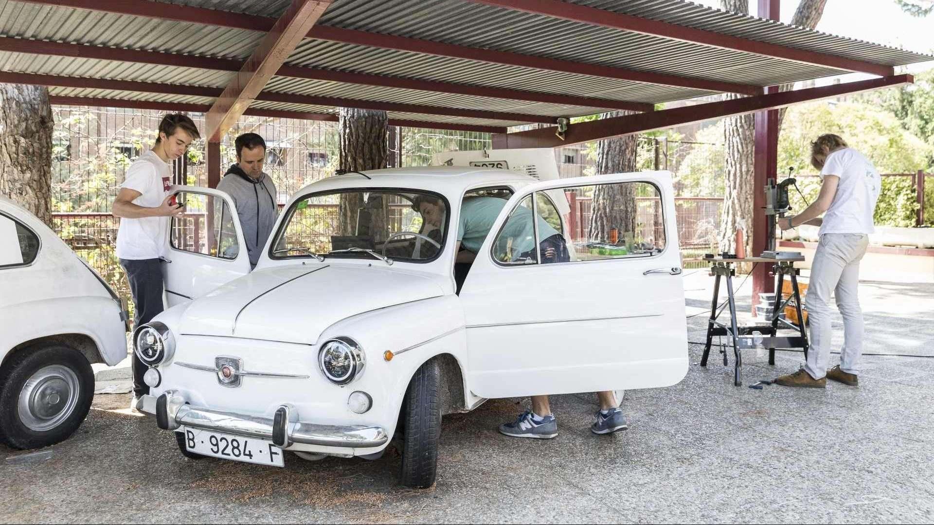 Estudiantes de Madrid dan vida a un viejo SEAT 600 con motor eléctrico