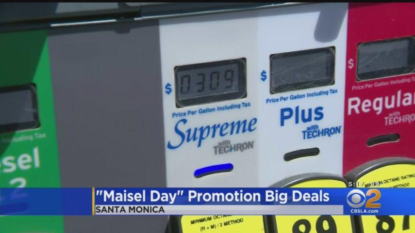 Una gasolinera de Santa Mónica pone el galón a 30 centavos y colapsa el tráfico