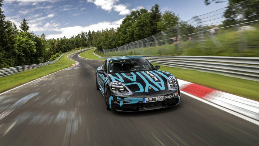 El Porsche Taycan es el sedán eléctrico más rápido en el circuito de Nürburgring