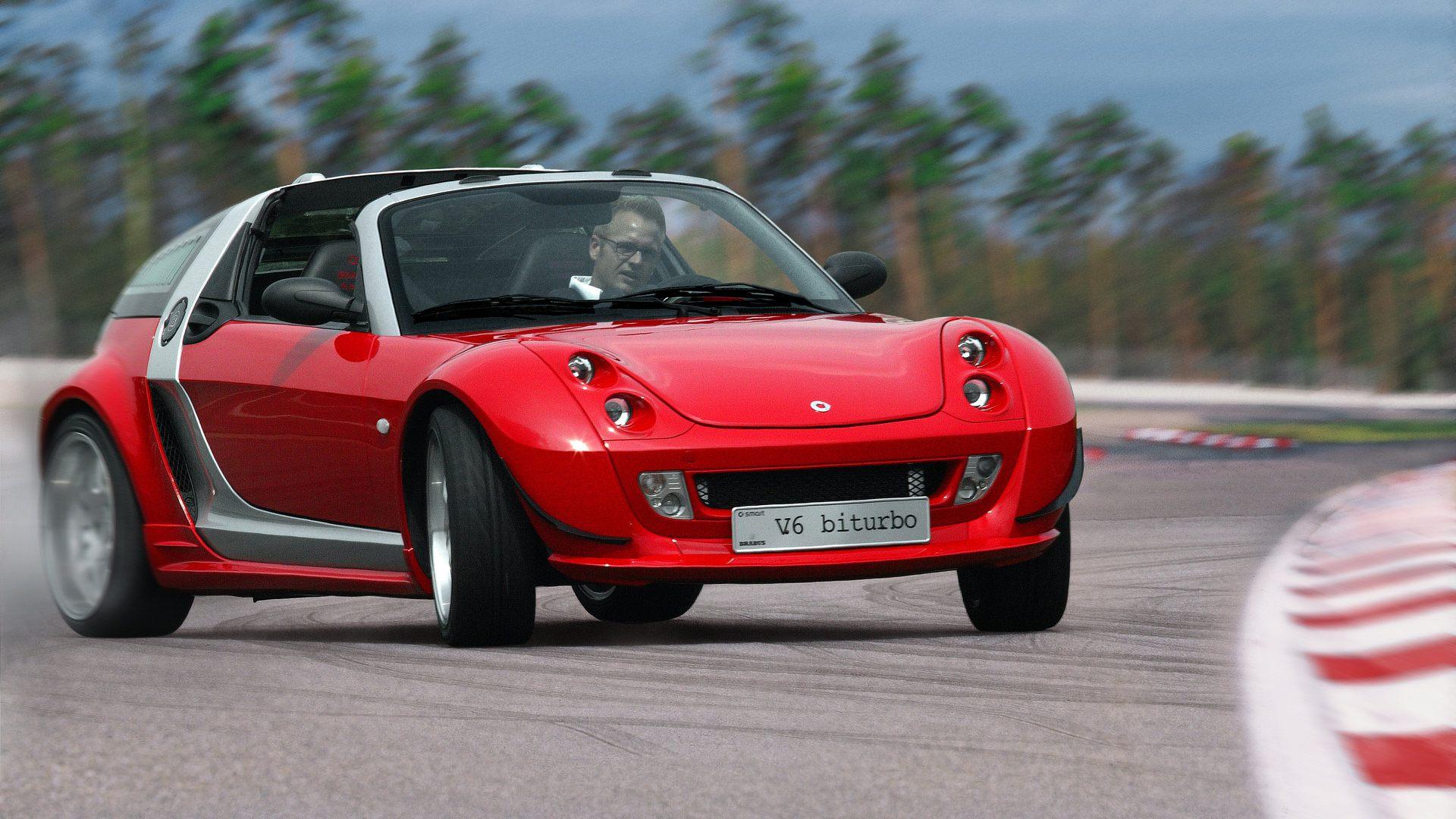 Coche del día: smart roadster BRABUS V6 biturbo