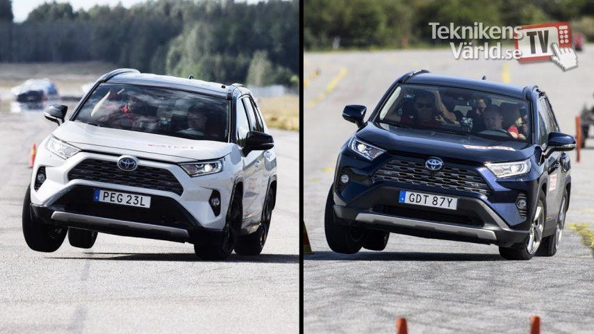 """El Toyota RAV4 no supera el """"test del alce"""""""