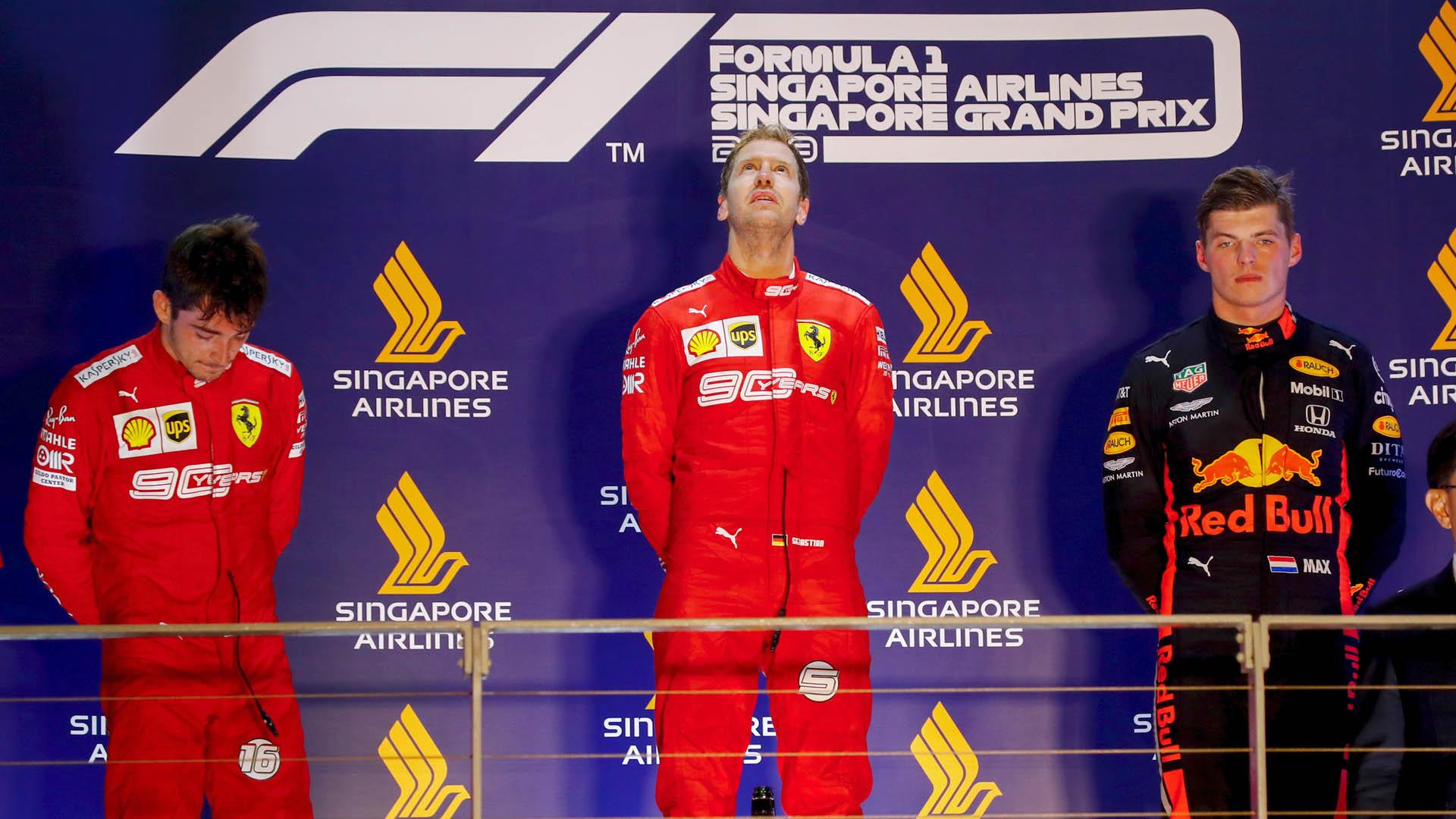 GP de Singapur: Ferrari perjudica a Leclerc y pone en bandeja la victoria de Vettel
