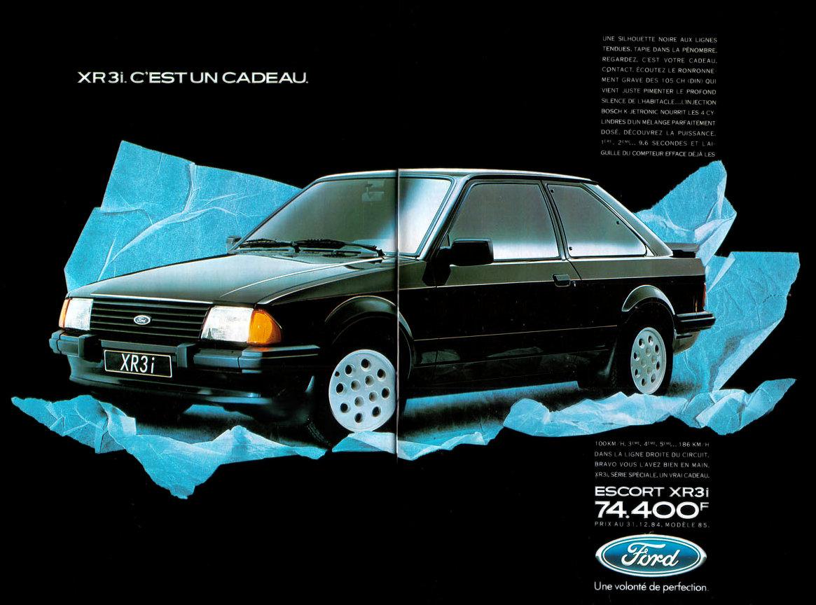 Ford Escort XR3i MkIII catalogo frances