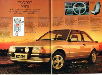 Ford Escort XR3i MkIII catalogo ingles 1