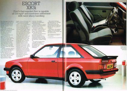 Ford Escort XR3i MkIII catalogo ingles 2