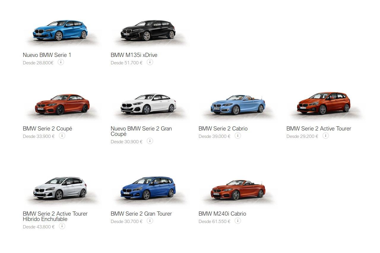 Gama Serie 1 y Serie 2 de BMW