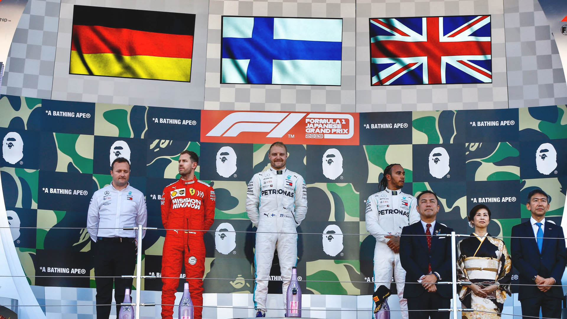GP de Japón: Bottas vence y Mercedes gana el campeonato de constructores