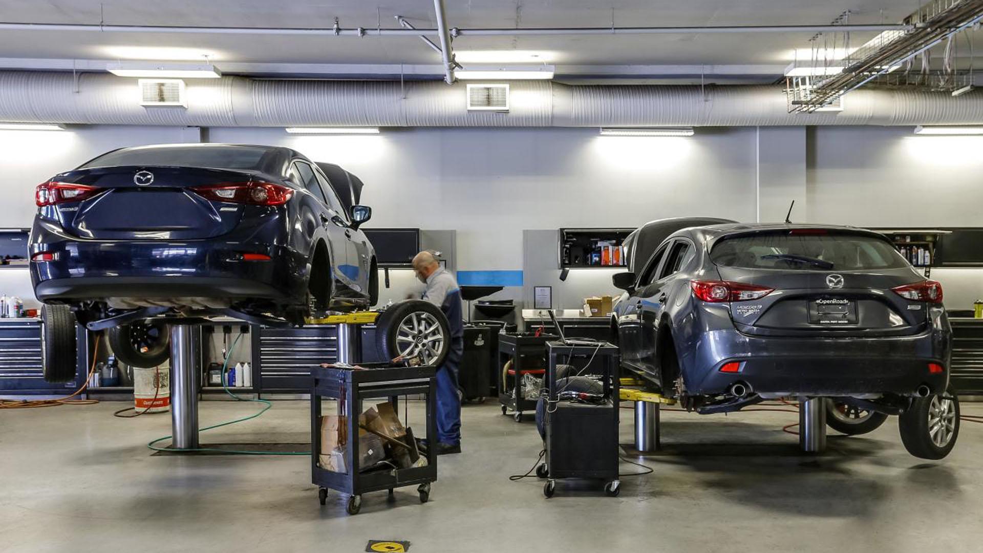 Mazda en taller