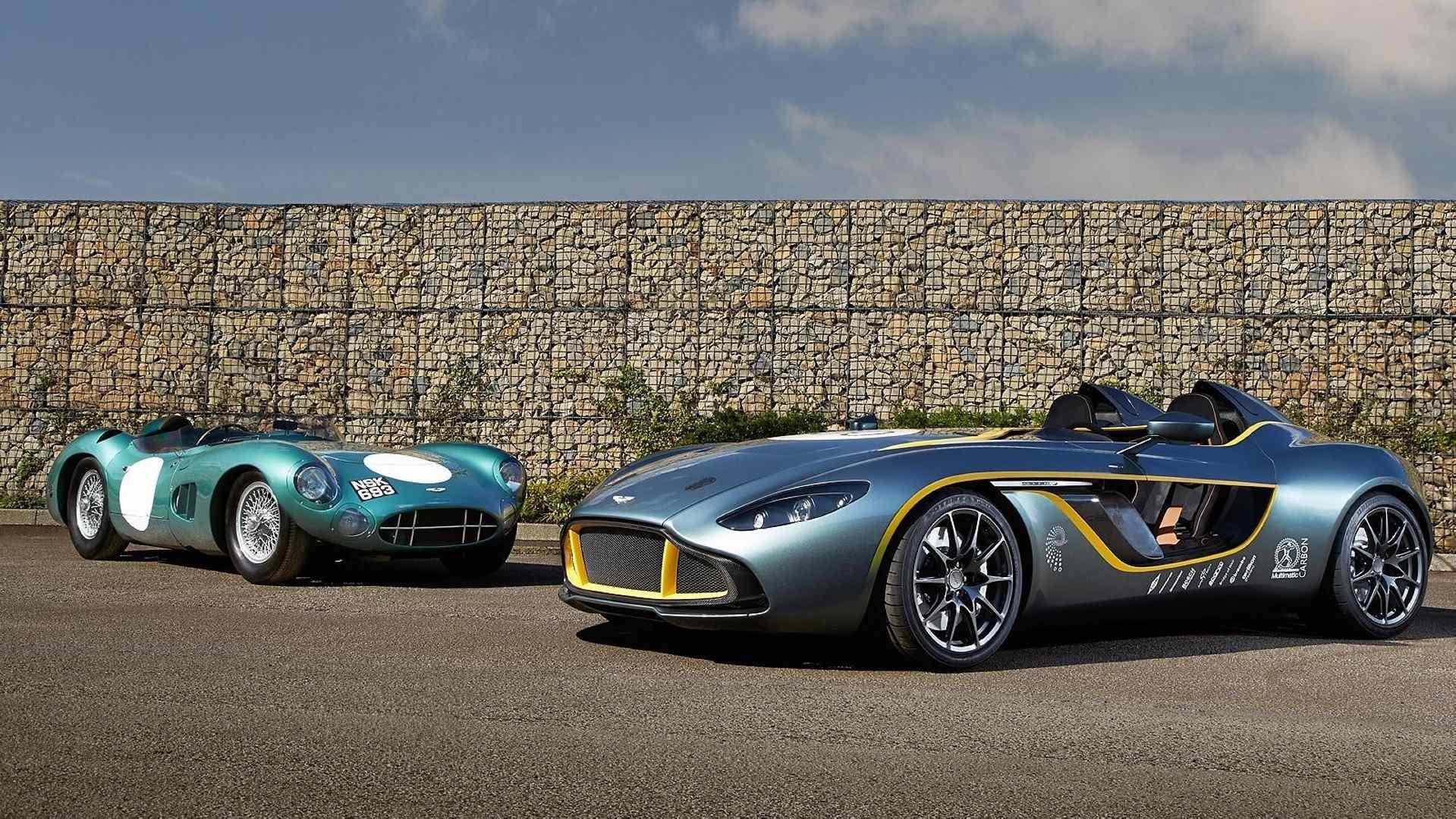 Aston Martin DBR1 y CC100 Speedster Concept