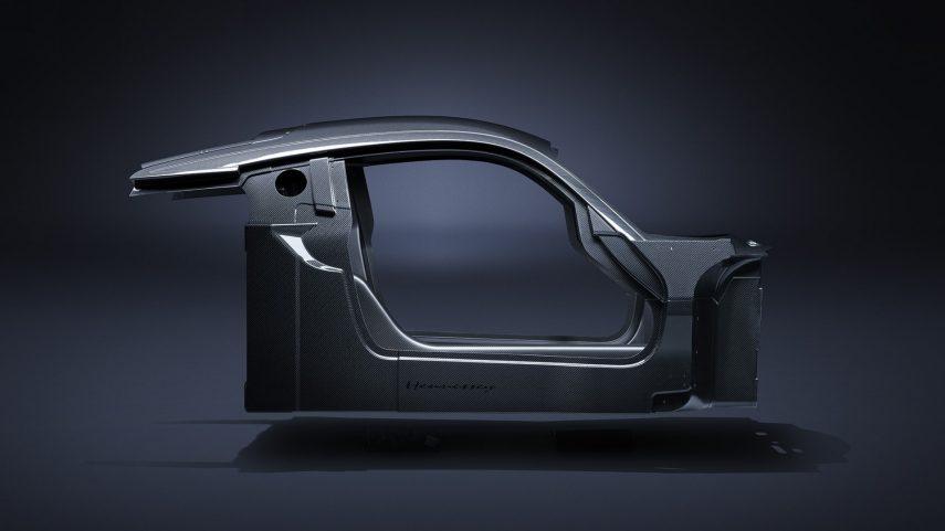 El Hennessey Venom F5 ya tiene su chasis de fibra de carbono