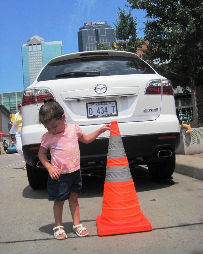 visibilidad trasera Mazda CX 9