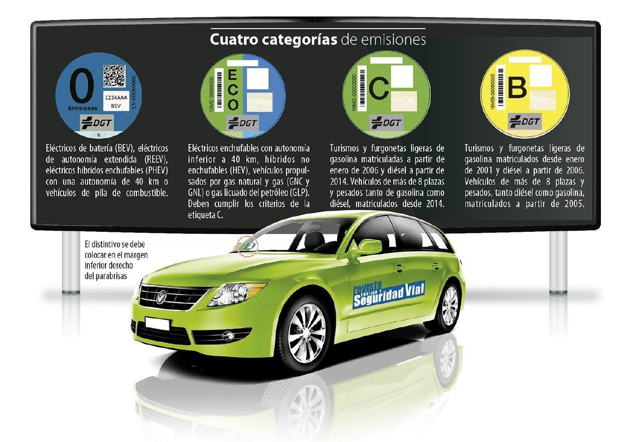 La DGT mantendrá el etiquetado de vehículos tal y como está