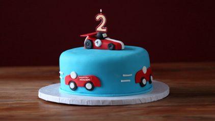 Tarta cumpleaños 2 espiritu racer