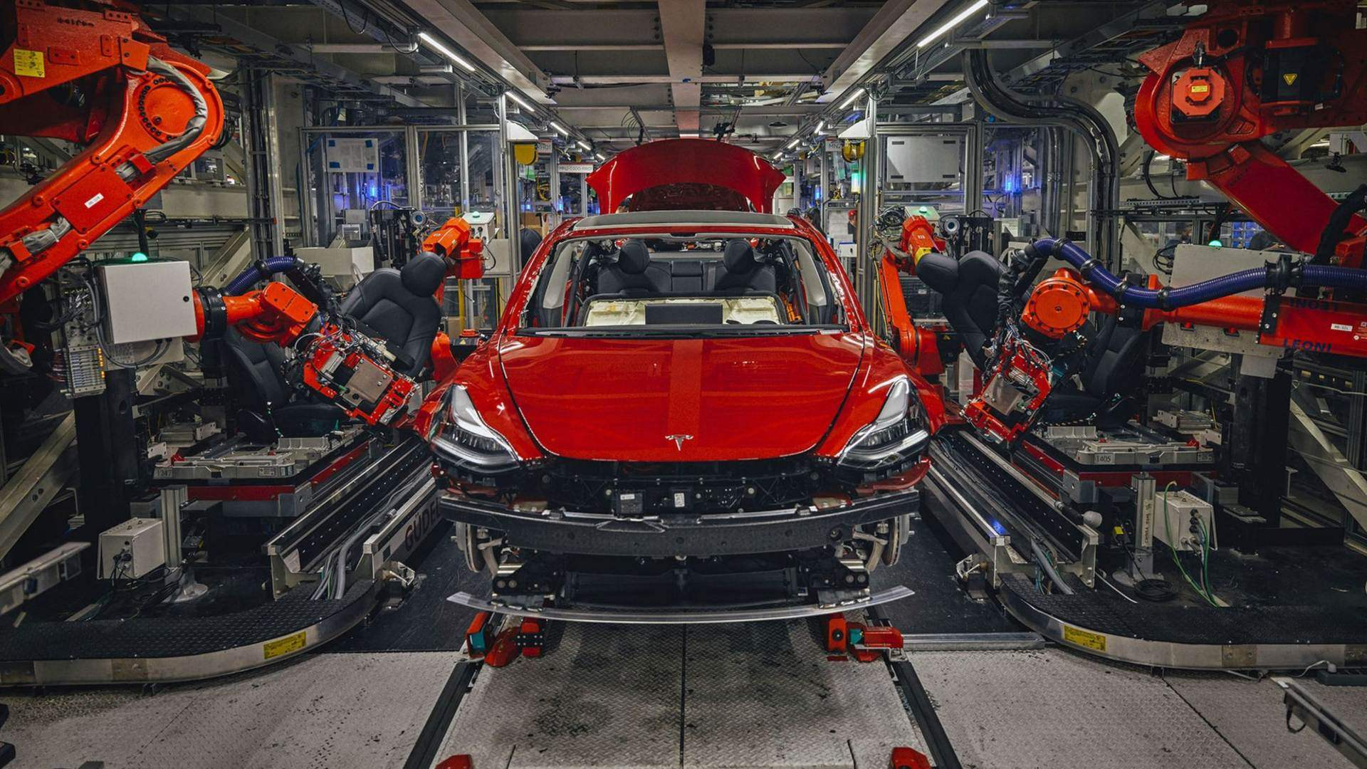 Tesla Model 3 factory production