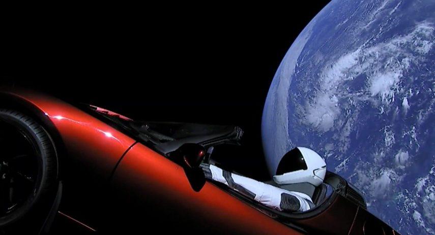 Tesla Roadster Starman Marte