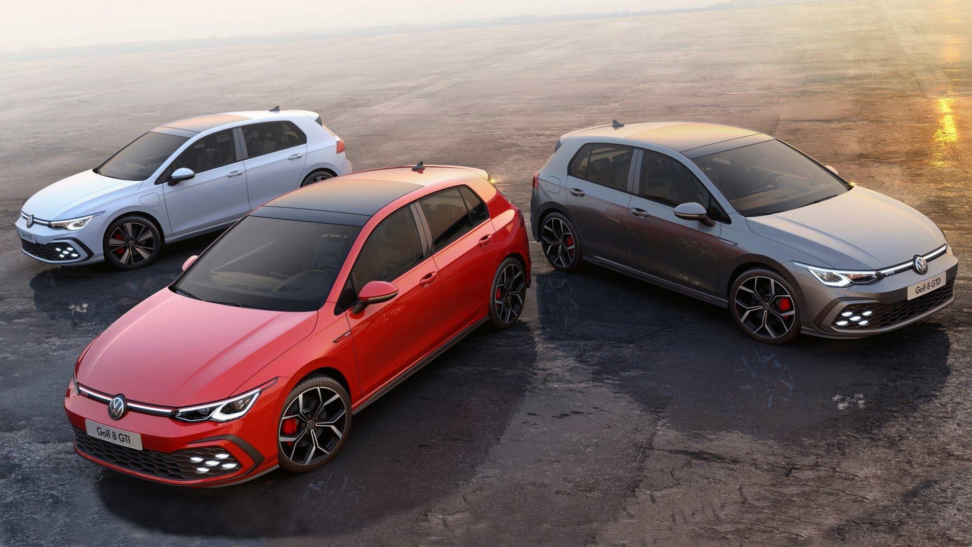Volkswagen Golf GTi, GTD y GTE, te contamos todos sus detalles