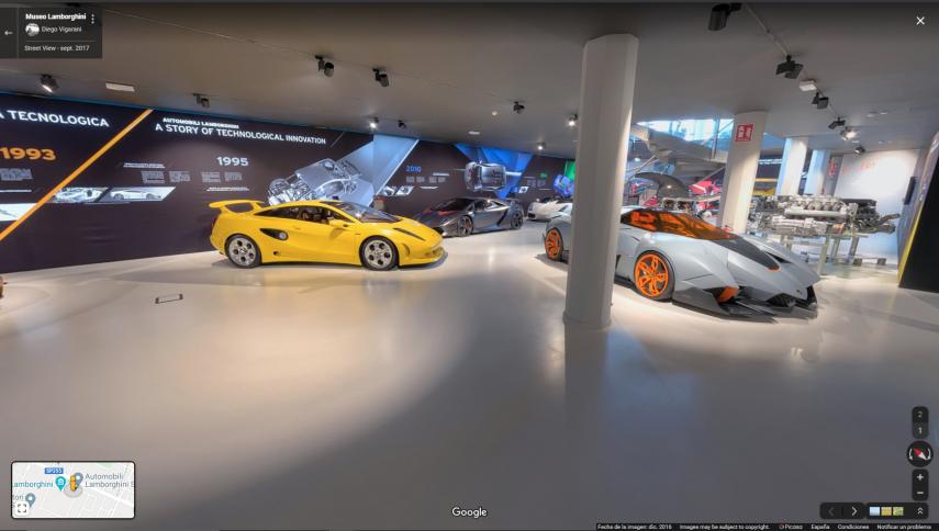 Hoy visitamos el museo virtual de Lamborghini