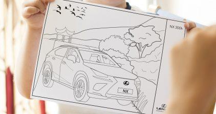 Lexus para colorear