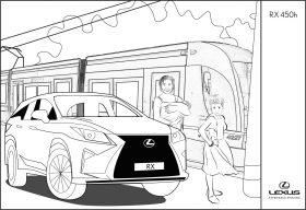 Lexus RX 450h para colorear