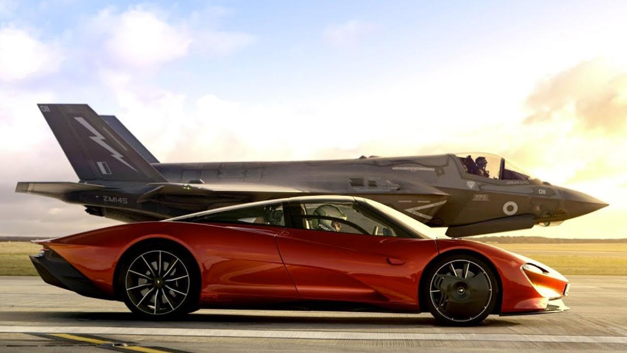 Top Gear enfrenta a un McLaren Speedtail contra un F-35 Lightning II