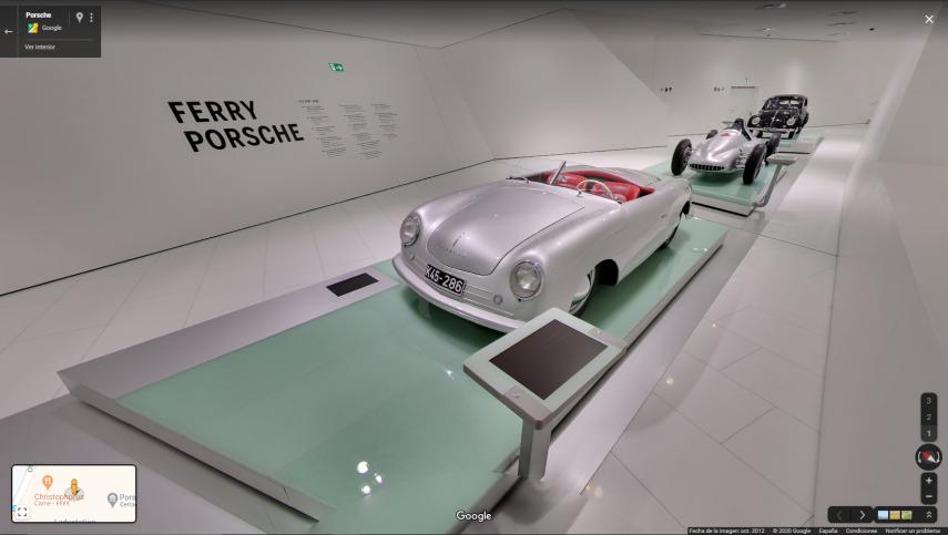 Hoy visitamos el museo virtual de Porsche