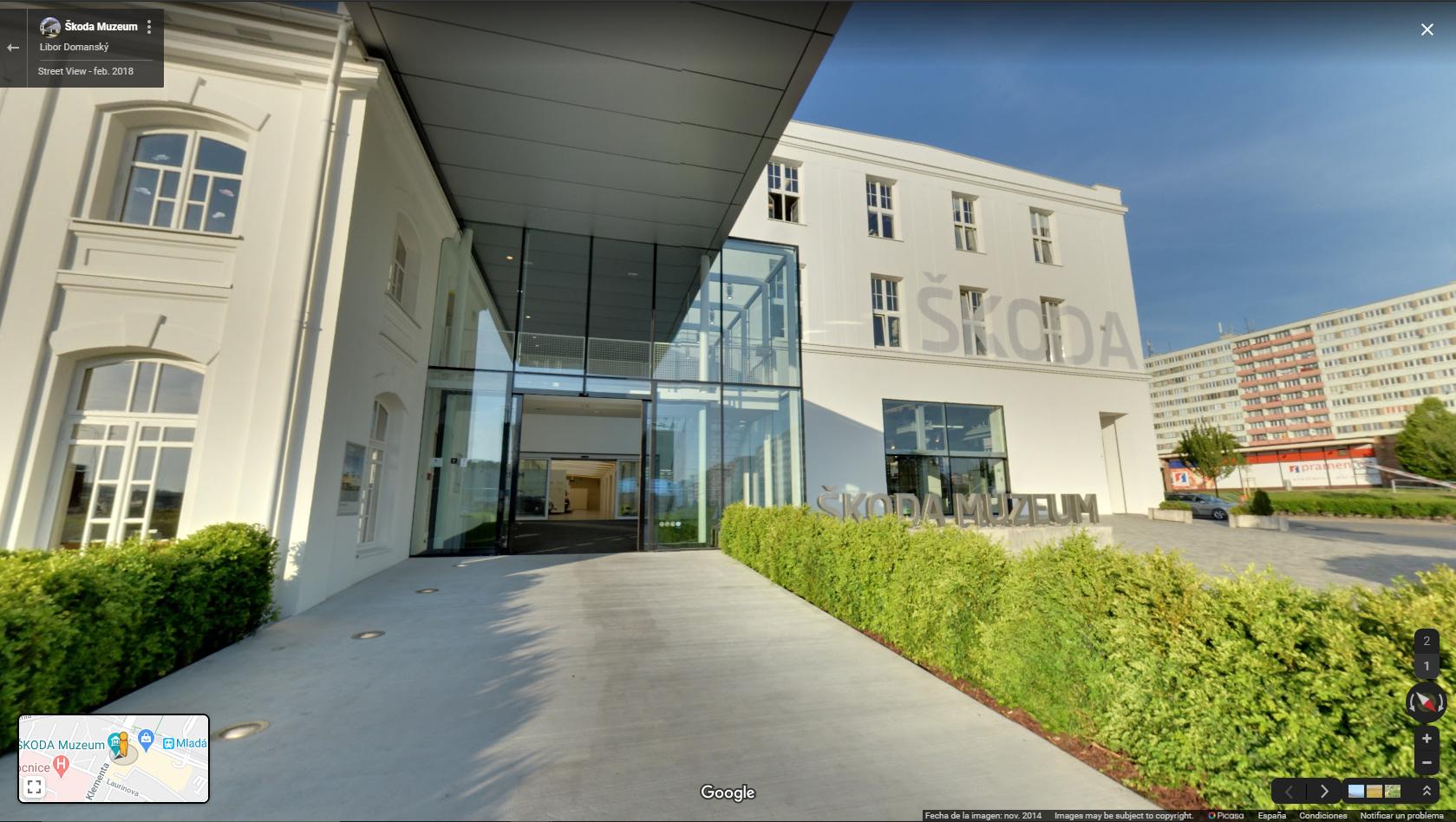 Hoy visitamos en museo virtual de Škoda