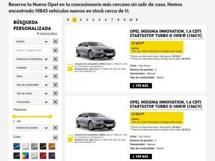 Webstore Opel