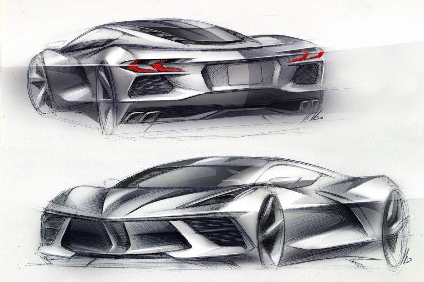 05 2020 Chevrolet Corvette Stingray sketch