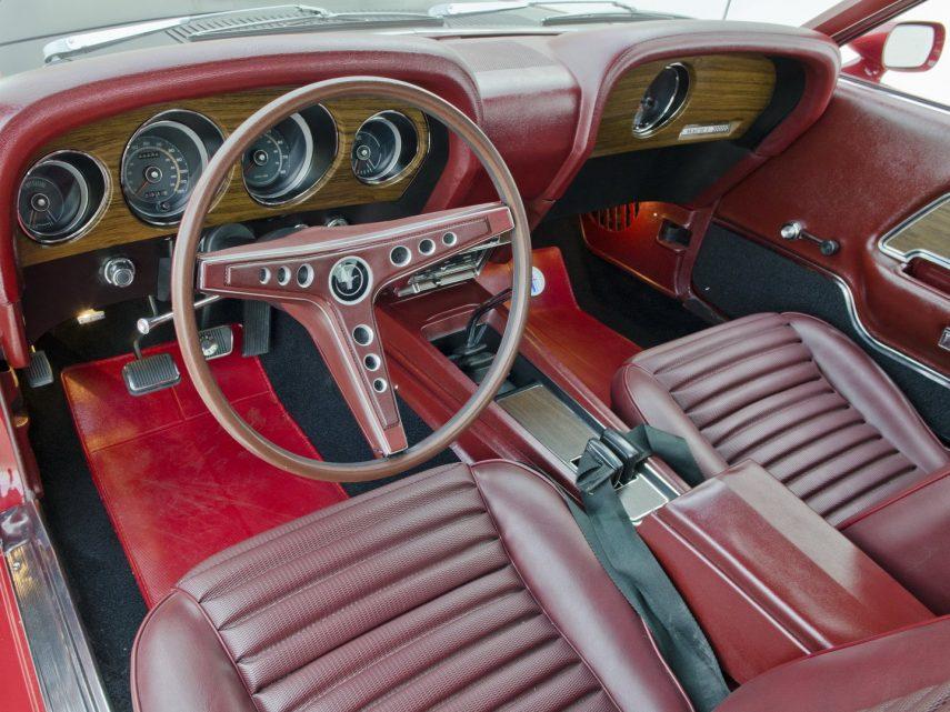1969 Ford Mustang Mach 1 428 Super Cobra Jet interior 63C
