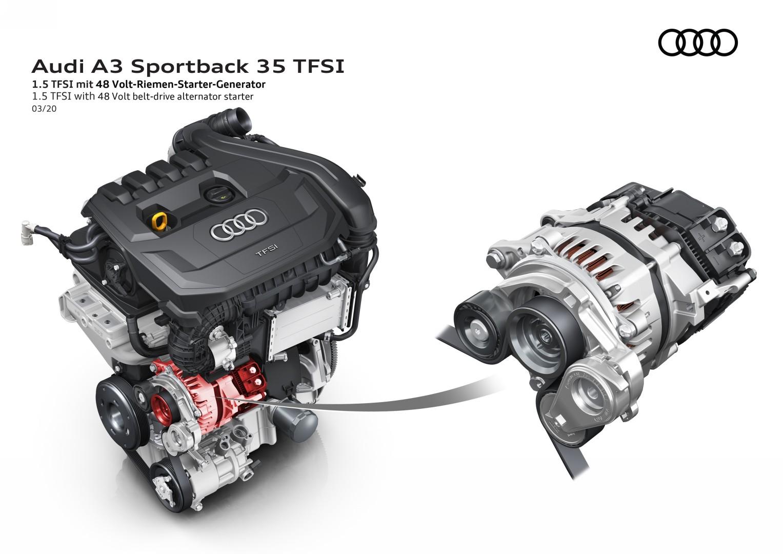 Audi A3 tecnología MHEV 3