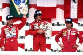 Ayrton Senna podio Honda 1