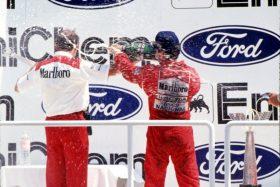 Ayrton Senna podio Honda 2