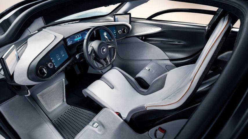 mc laren speedtail interior