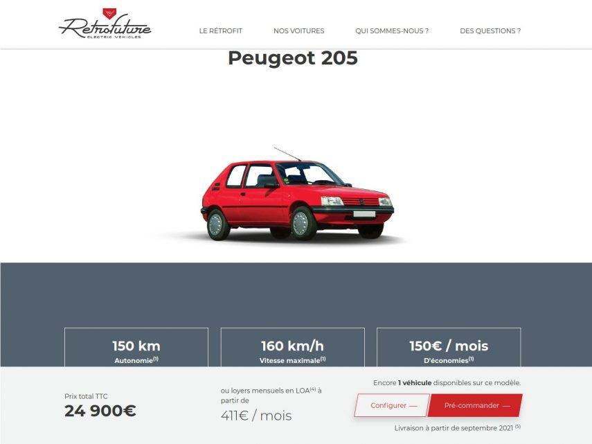 Peugeot 205 Retrofuture
