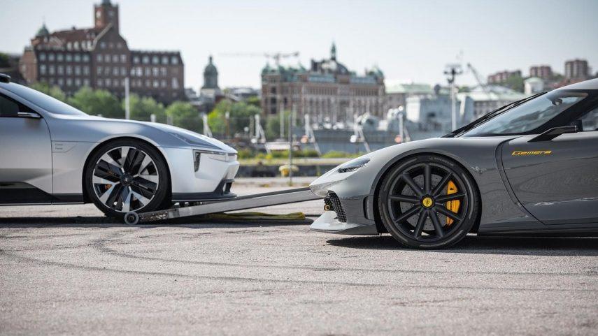 ¿Por qué el Polestar Precept y el Koenigsegg Gemera posan juntos?