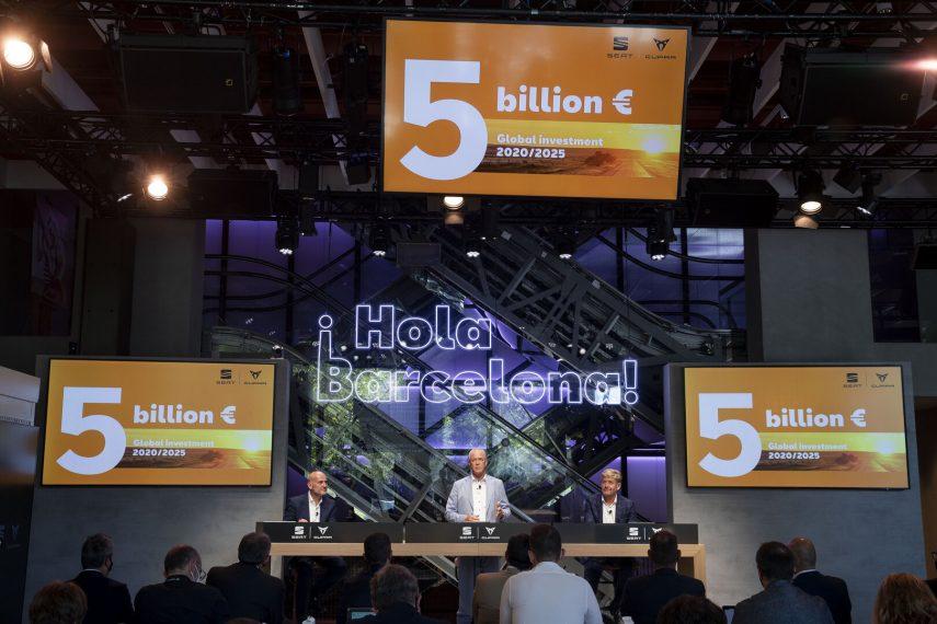 SEAT invertirá 5.000 millones de euros entre 2020 y 2025