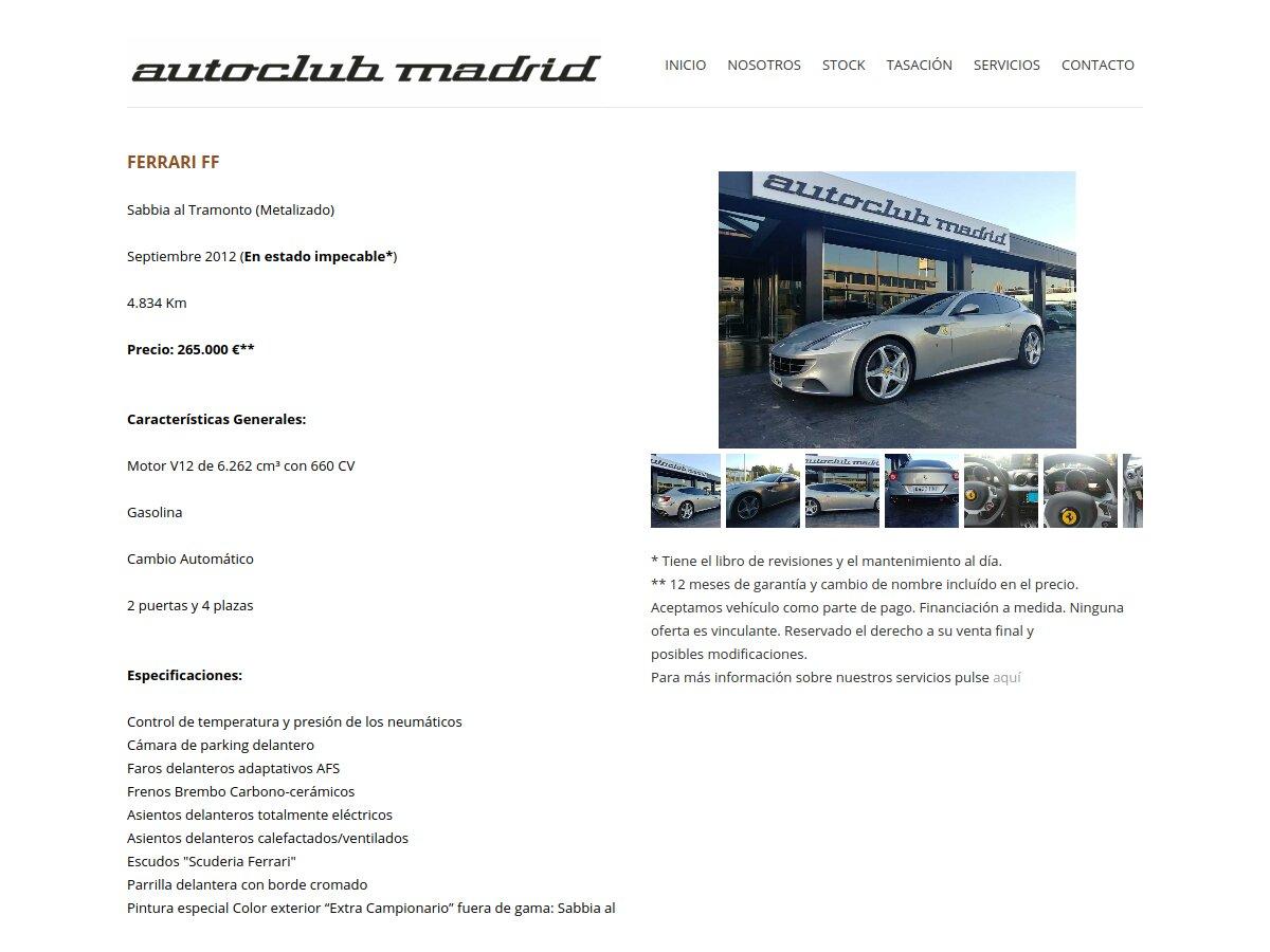 Anuncio Autoclub Ferrari FF 8402 HMH