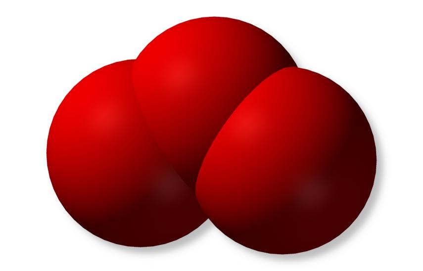 Molecula de ozono