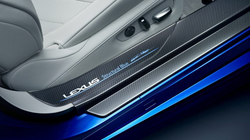 09 Lexus LC 500 structural blue convertible