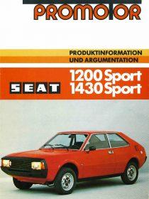 Catalogo SEAT 1200 1430 Sport Alemania